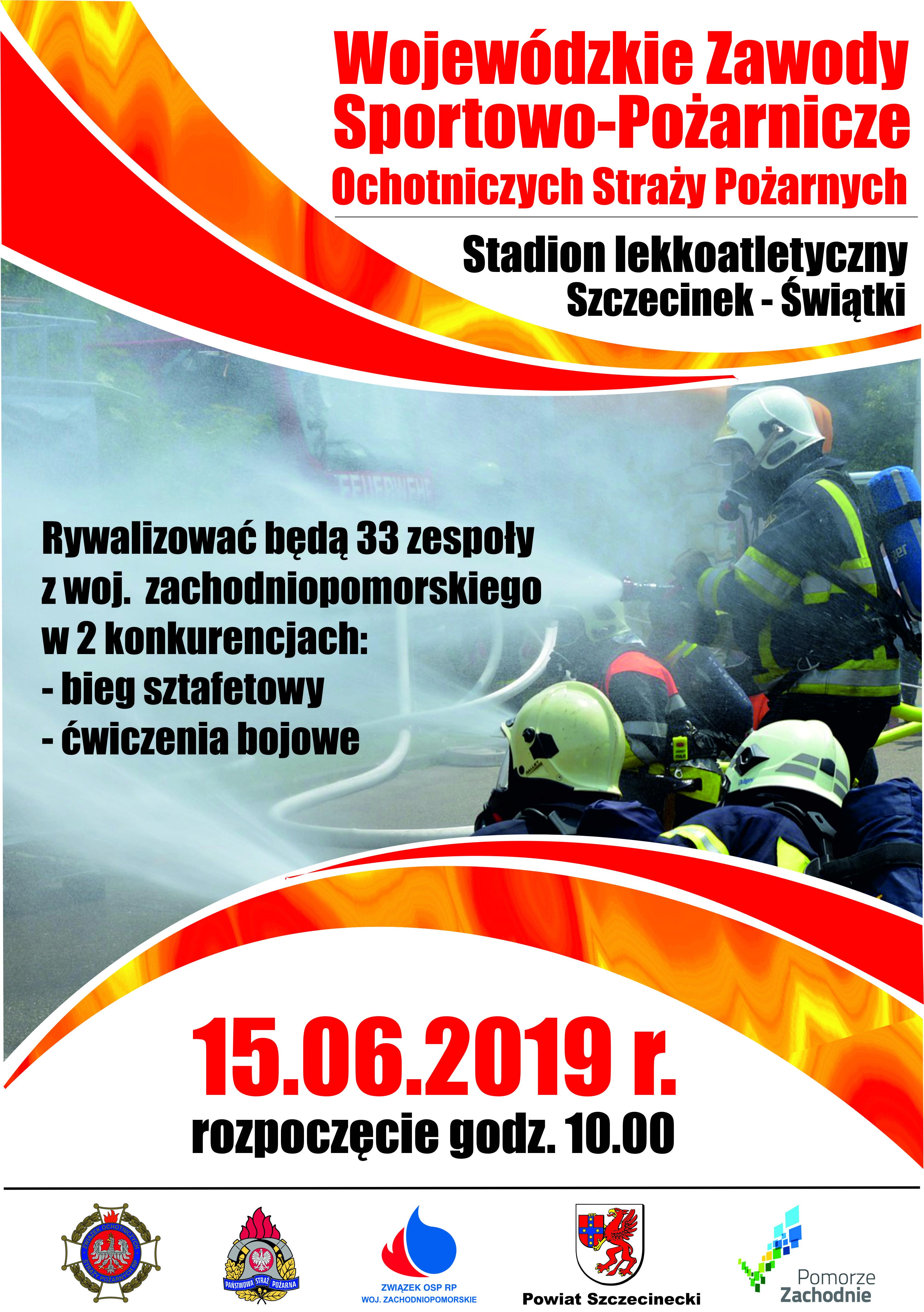 plakat Wojewódzkie zawody pozarnicze